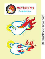 Holy spirit - Dove Holy spirit icon, art vector design