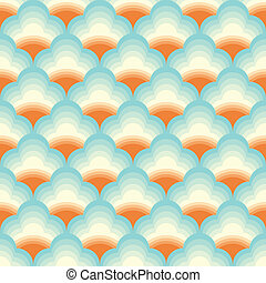 Vector Chinese cloud pattern background with sunlight