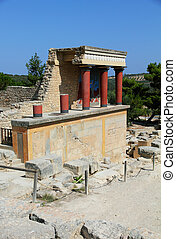 Knossos palace at Crete, Greece Knossos Palace, is the...
