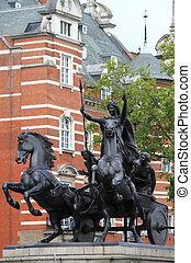 Puente, Reino Unido,  Westminster, estatua, londres,  Boudicca