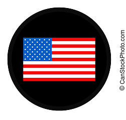 American flag on button