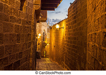Street in Old Jaffa port. - Beautiful photos in the streets...