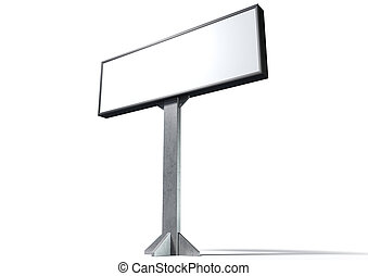 Light Box Horizontal - A blank horizontal light box street...
