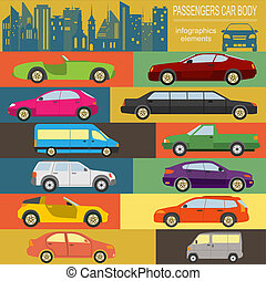 Car, transportation infographic