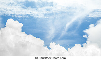 blue sky and white cloud background image