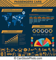 Car, transportation infographics
