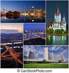 Vienna landmark collage