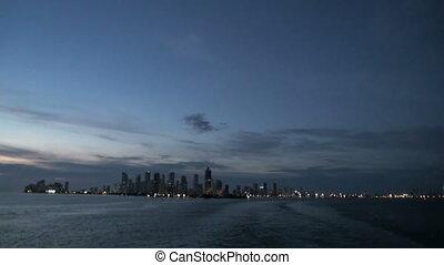 Columbia, Cartagena Skyscapers - Shoreline of Playa de Boca...