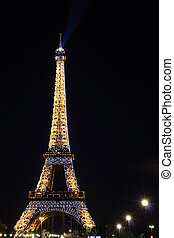 PARIS - Light Performance in Eiffel tower - PARIS - MAY 02 :...