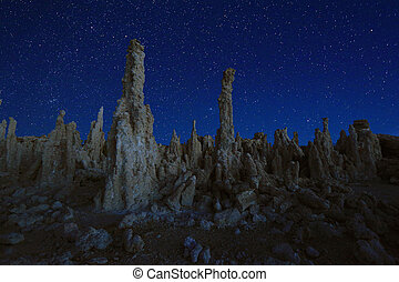 Art Landscape Image of the Tufas of Mono Lake - Beautiful...
