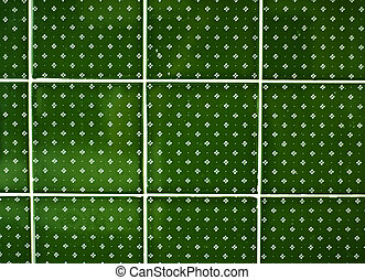 background of a  green tiles