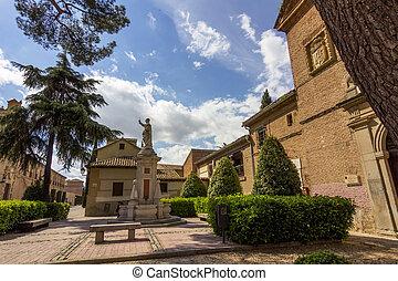 parks and gardens of the city of Alcala de Henares, Spain