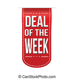 Deal of the week banner design over a white background,...