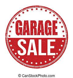 Garage sale grunge rubber stamp on white, vector...