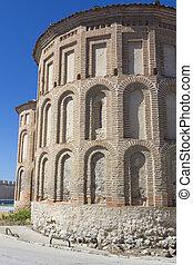 Apse of Santiago Ruins in Cuellar, Spain
