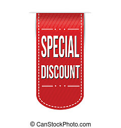 Special discount banner design over a white background,...