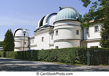 Prague observatory - Small observatory in Prague on a sunny...
