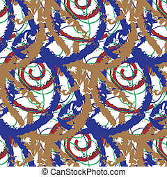Pattern Pollock - This image is a vector illustration and...