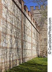 Walls of the Archbishop Palace Alcala de Henares, Spain