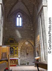 Interior of the Cathedral, Los Santos Justos ,Alcala de...