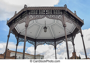 Ancient temple roof in Alcala de Henares, Spain