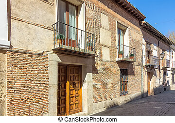 typical house in the historic town of Alcala de Henares,...