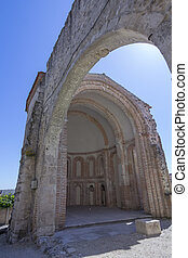 Apse of Santiago Ruins in Cuellar, Spain