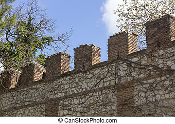 wall of the archbishopric of Alcala de Henares, Spain