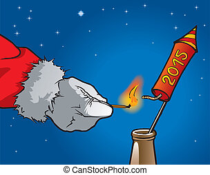 Weihnachtsmannrakete - Weihnachtsmann zndet eine...