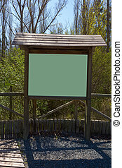 Exhibitor wooden stand for your messages in nature