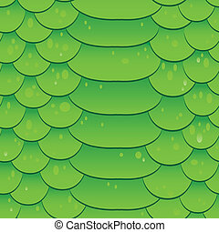Snake skin texture. Seamless pattern green background....