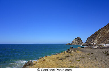 Beach along PCH-1 at Point Mugu, SoCal - Roadside beach near...