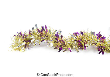 colorful party decoration with garlands, streamer