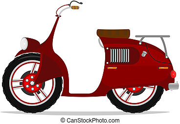 Moped - Funny cartoon scooter Vector