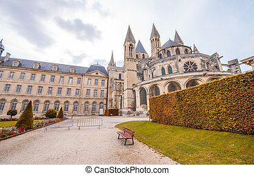Chateau Ducal, a castle in the center of the city Caen,...