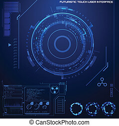 Futuristic graphic user interface Vector illustration
