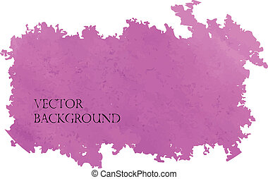 Watercolor lilac background design, made in vector.