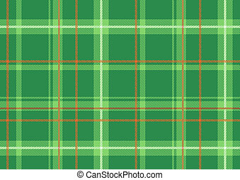 Scottish plaid - illustration of The Scottish plaid Textured...