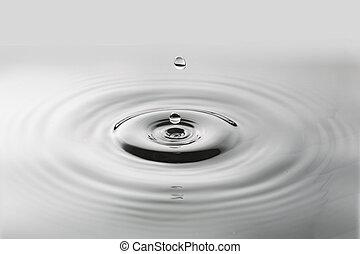 water drop black white tone