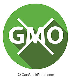 Editable GMO-free flat sign on a white background Vector