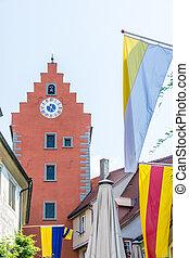 City Gate of Meersburg - Historic city gate of Meersburg at...