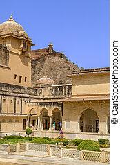 Aner Fort - Famous Rajasthan landmark - Amer Amber fort,...