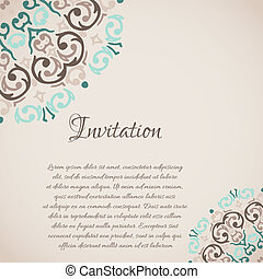 Vector damask ornamental corner frame with a place for your text