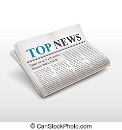top news words on newspaper