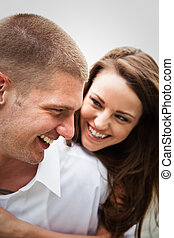 Happy caucasian couple - A beautiful happy caucasian couple...