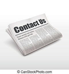 contact us words on newspaper
