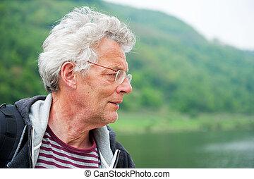 Active elderly man