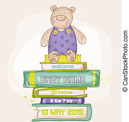 Baby Bear Shower or Arrival Card - with place for your text...
