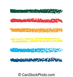 Set of colored pencil strips. Set of vector colorful...