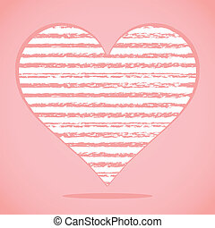 Big heart Abstract hand drawn ink strokes Vector...